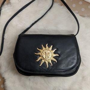 Saks Fifth Avenue Italian Leather Sun Crossbody